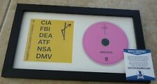 Jared Leto 30 Seconds Mars Signed Autograph Framed CD Display Beckett Certified