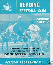 READING  V  DONCASTER ROVERS  3RD DIVISION    12/4/67