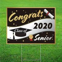 Class of 2020 Graduation Yard Sign   Double Sided   18x 24