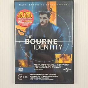 The Bourne Identity DVD -Matt Damon - Region 2,4 - TRACKED POST