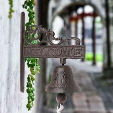 Antique Cast Iron Hanging Door Bell Wall Mounted Welcome Doorbell Home Decor