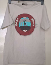 Threadless 'Missed' t-shirt deer hunter print size Small speckled white