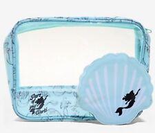 Disney The Little Mermaid Ariel 2 Piece Makeup Cosmetic Bag Set Gift NWT!