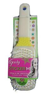 1 Goody Sticker Me Paddle Hairbrush - 50 Stickers Yellow White