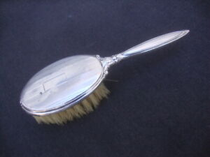 "Vintage Art Deco Webster Co Sterling Silver Baby Brush Hair 5-1/2"" Soft Bristles"