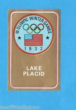 OLYMPIA 1896-1972-PANINI-Figurina ADESIVA  n.264- LAKE PLACID 1932 - STEMMA -Rec