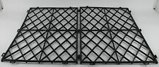 Glass Shelf Mats Black Plastic Interlocking Pub Bar Stacking Mat Bar ware  Pk 10
