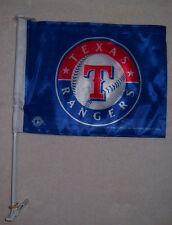 NEW 11X15in 2 SIDED BLUE TEXAS RANGERS LIC MLB BASEBALL STORE CAR WINDOW FLAG