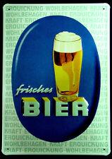 * Bier Werbung Schild Deko Poster Kneipe Partykeller Reproschild *1451