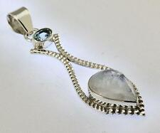 RAINBOW MOONSTONE PENDANT 925 STERLING SILVER ARTISAN JEWELRY COLLECTION Y140B