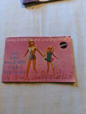 Vintage Living Barbie and Living Skipper Fan Club Fashion Booklet (1970)