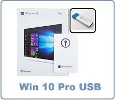Sealed Microsoft Windows 10 Pro Professional Genuine USB Edition 32/64 Bit Box