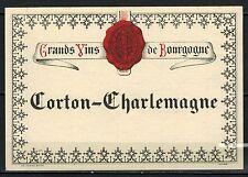 Etiquette de Vin - Bourgogne - Corton Charlemagne - New- Never Stuck - Réf.n°144