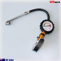 """220PSI 15Bar Dial Gauge Inflator Deflator 1/4"""" NPT Tyre Air bleed Button WDMATE"""