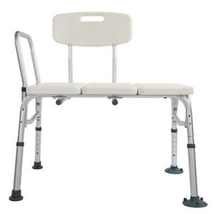 Heavy Duty Bath Tub Shower Transfer Bench Stool Shower Chair w/Backrest Seat