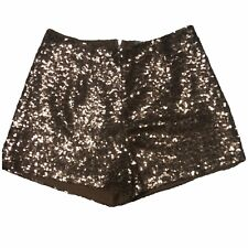 Charlotte Russe Sequin Shortie Shorts Bronze Copper Shiny Juniors Small