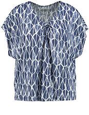 Samoon Shirt by Gerry Weber Neu Damen Gr.54 V-Ausschnitt Leinen-Viskose-Mix