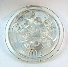 11 Hole Frog Clear Glass Width 3 3/4 Inches