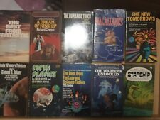Vintage Sci Fi Lot Of  10 Paperback Books Assorted :Various Authors Acceptable