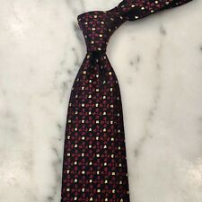 Charvet Tie - Red/Yellow/Black - Made in France - 100% Authentic! - MINT!!!