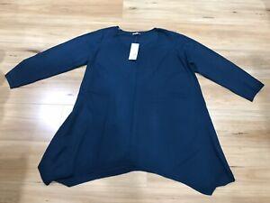 AUTOGRAPH BNWT Teal Asymmetrical Hem Knit Tunic Jumper Size XL RRP $69.99