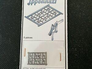 attelages factices à choquelle en metal gris de chez  Jppennati ech N (8 pièces)