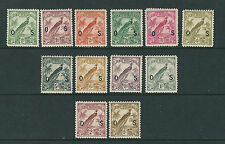 NEW GUINEA 1932 Raggiana Bird of Paradise OFFICIALs (SG O42-O54 short O46) MLH