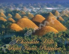 Philippines - Boho Island CHOCOLATE HILLS Travel Souvenir Flexible Fridge Magnet