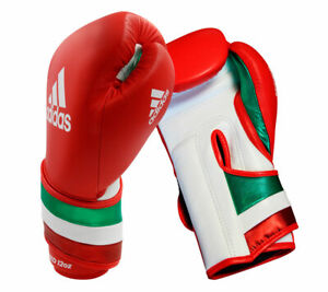 AdiSpeed ​​boxing gloves red, white and green