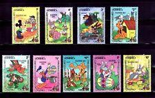 SELLOS TEMA DISNEY. DOMINICA 1984 785/93 9v.
