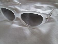 Gianfranco Ferre white frame cat's eye sunglasses. GFF 592.