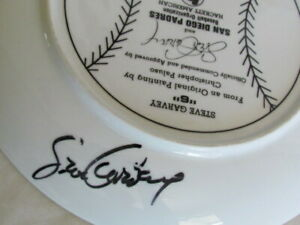 Steve Garvey San Diego Padres Hand Signed Autographed Collectible Plate
