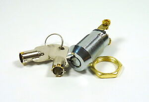 """5/8"""" On/Off Tubular Key Switch Lock SPST Key Removable On Or Off  Position"""
