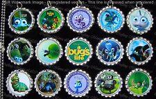 15 A Bug's Life Silver Flat Bottle Cap Necklaces Set 1