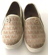 michael kors toddler girl shoes size 10tan slip on mk