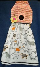 **NEW** Handmade Halloween Dogs in Costumes Hanging Kitchen Hand Towel #1822