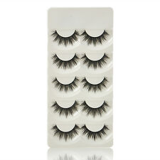 Soft 5 Pairs Handmade Makeup Thick False Eyelashes Eye Lashes Long Black Nautral