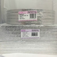 *Culpitt Pack of 5 Cake Boards Round or Square Silver Drum Board 13mm Thick