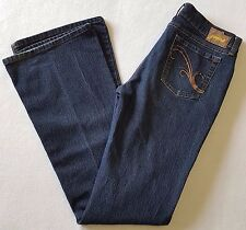 Grane Bootcut Jeans Womens Juniors Size 9 Long Dark Wash Low Rise Stretch