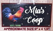 ROOSTER CHICKEN PERSONALIZED SIGN COUNTRY FARM ROOST COOP KITCHEN ANY NAME