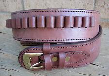 NEW! Deluxe Western Brown Genuine Leather 38/357 cal Cartridge Belt SASS Gun