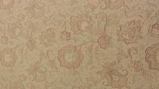 "Paisley Floral fabric remnant red/light brown 100"" long X 59"" wide"