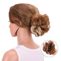 Women's Curly Hair Bun Updo Cover Chignon Claw Clip In Hairpieces