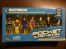 DC COMICS POCKET SUPER HEROES BATMAN BOX SET 6 FIGURES PLUS JLA CHAIR, MIB