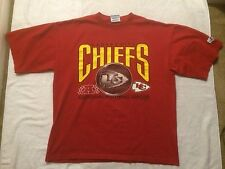 Vintage 90s Kansas City Chiefs Logo athletic Tshirt Red Size XL