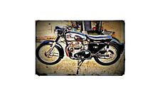1953 Matchless G9 Bike Motorcycle A4 Retro Metal Sign Aluminium