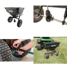 Tow Behind Grass Seed Salt Broadcast Lawn Fertilizer Spreader Pull Rustproof