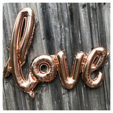 "30"" Rose Gold Love Foil Balloon Hanging Backdrop Wedding Engagement Party Decor"