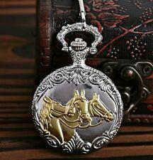 Reloj de bolsillo carreras de caballos Oro y Plata Boda Novio Bestman Papá Navidad