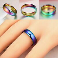 Unisex Color Band Temperature Control Emotion Feeling Hot Best. Ring Mood O5I2